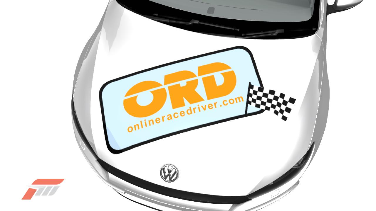 Online Race Driver logo on Forza 3 bonnet