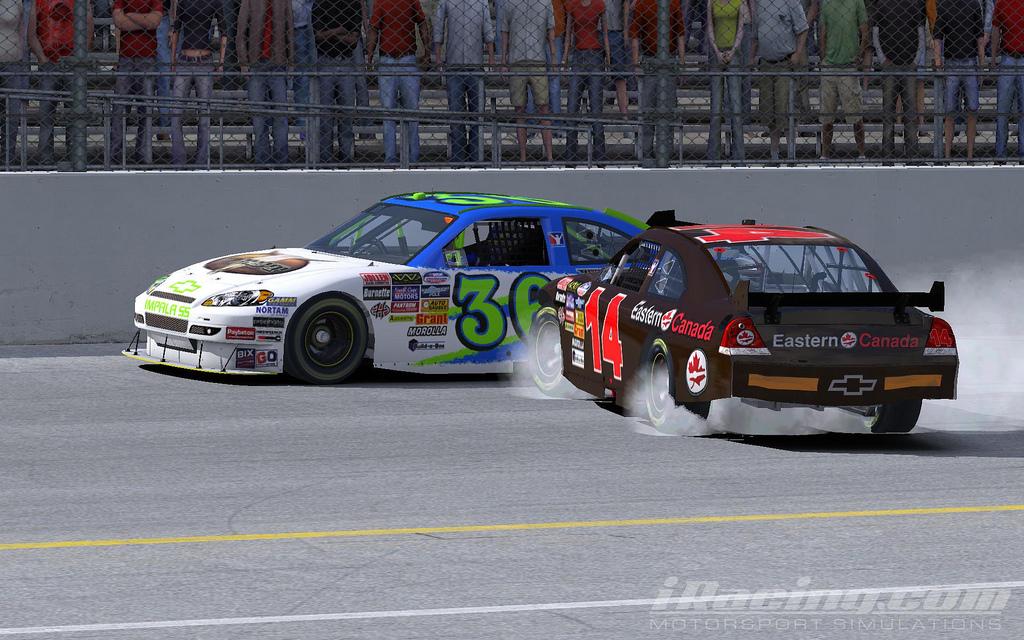 Daytona 500 iRacing crash by jbspec7 on Flickr