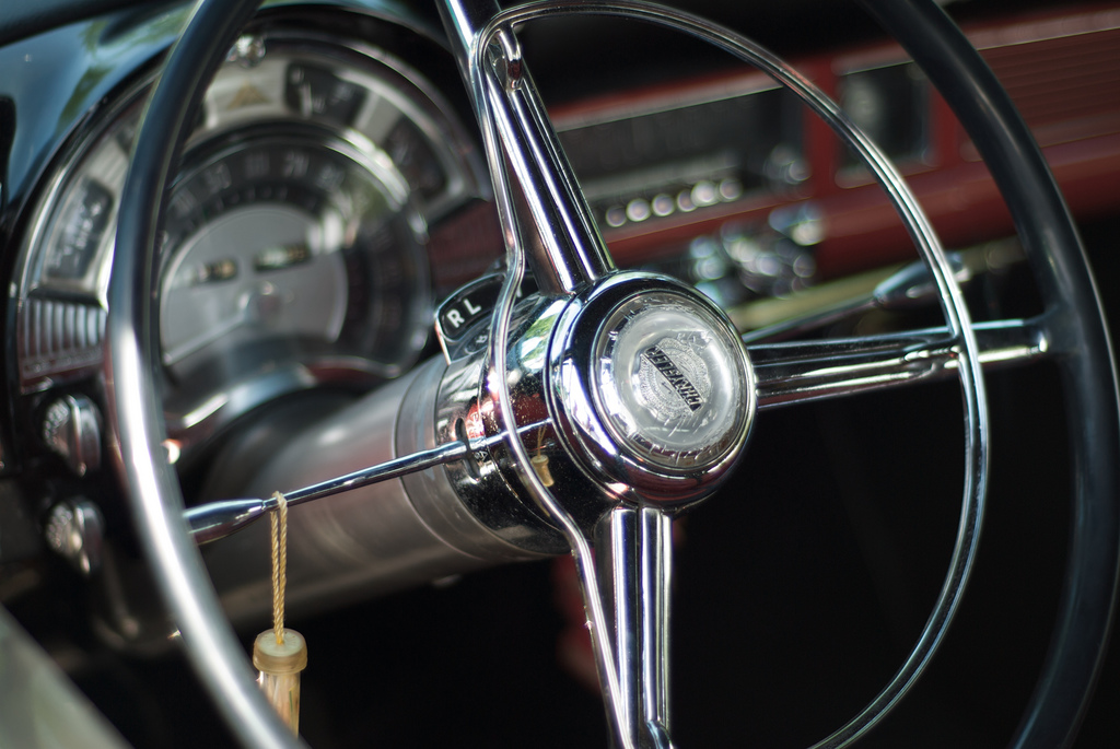Classic Car Steering Wheel by pmarkham (CC Licence)