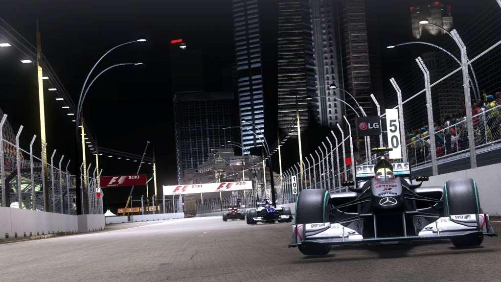 F1 2010 Singapore night race screenshot