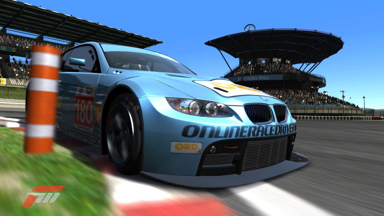 The Team ORD BMW at the Nurburgring GP track in the ALMS series