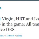 F1 2011 News on Twitter