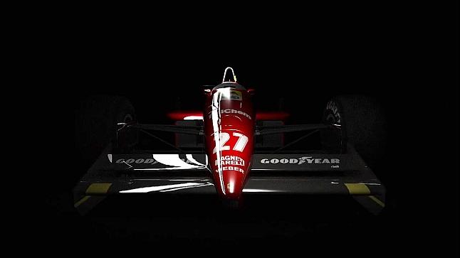 Alesi's classic 1992 Ferrari F92A (F1 2013)
