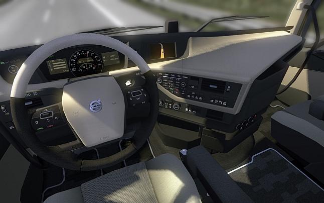 Euro Truck Sim 2: Volvo FH l'intérieur