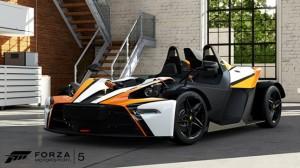 KTM's innovative lightweight sports car, the XBOW-R, in Forza 5.