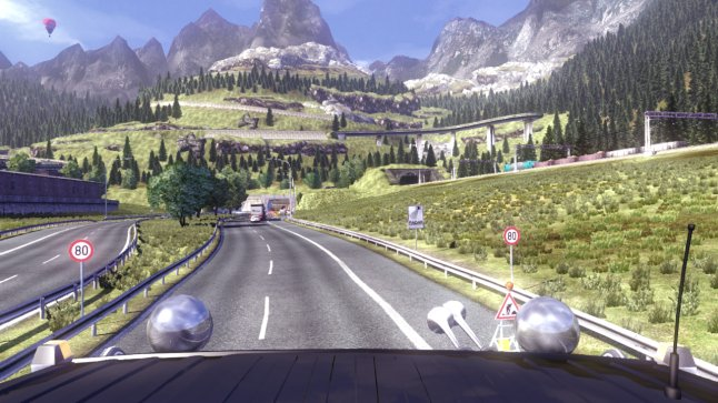 Euro Truck Simulator 2 - hauling under rock