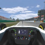 Simraceway Brno McLaren MP4-29 2014 Button 22 cockpit start-finish