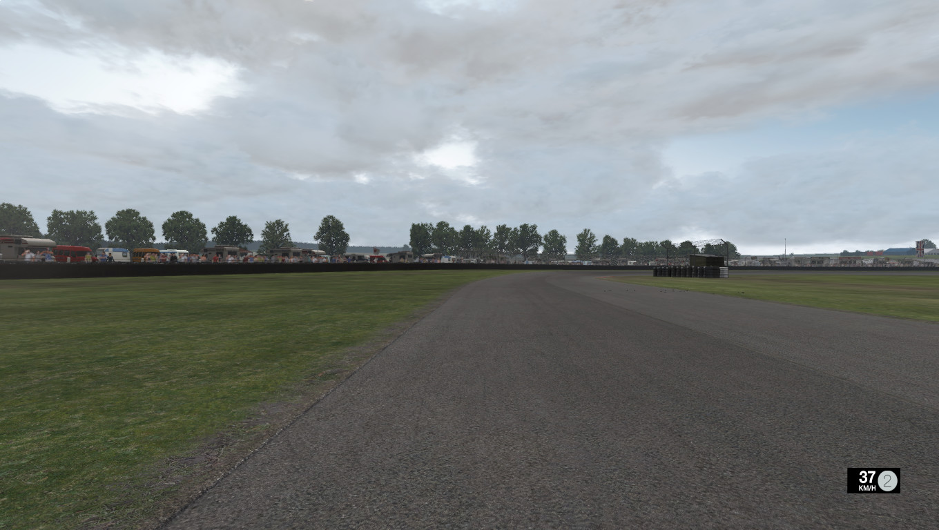 Project CARS' Cadwell Park in heavy cloud conditions.