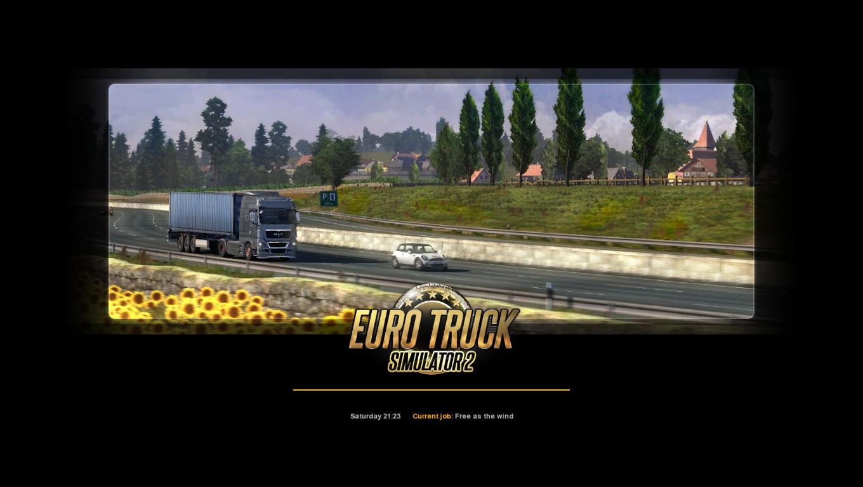 Euro Truck Sim 2's new loading screen