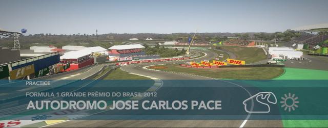 Codemasters' F1 2012 at the Brazilian Grand Prix