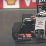 F1 2014: A slow turn with Hülkenberg #27 Force India at a wet Spa