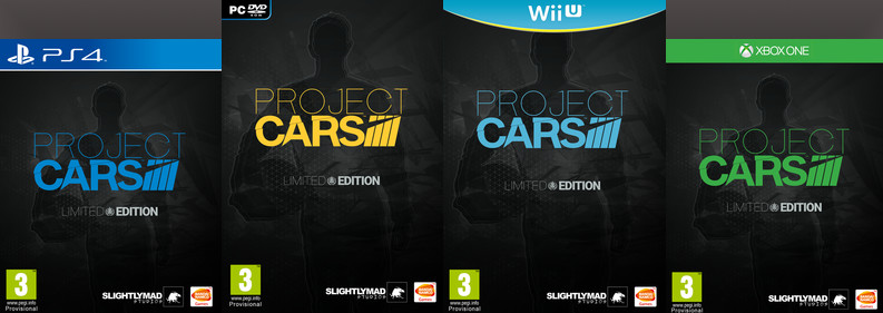 Project CARS Limited Edition covers