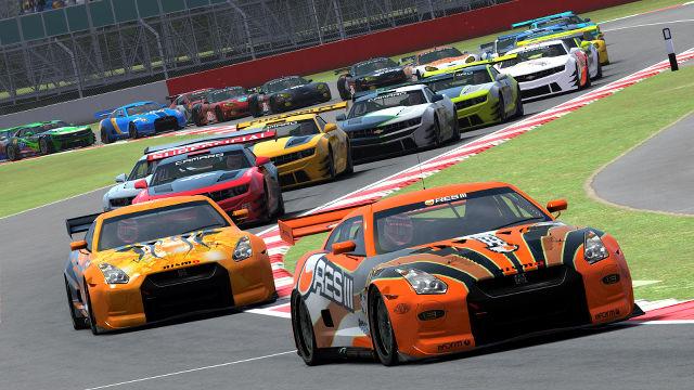 rFactor 2 GT Class GT-R in the lead