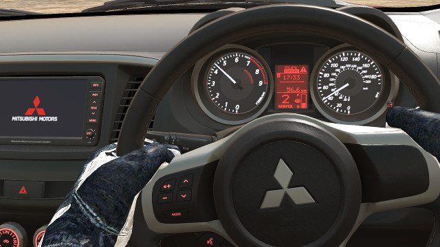 Project CARS: Working Instruments of the Mitsubishi Lancer Evo X FQ-400