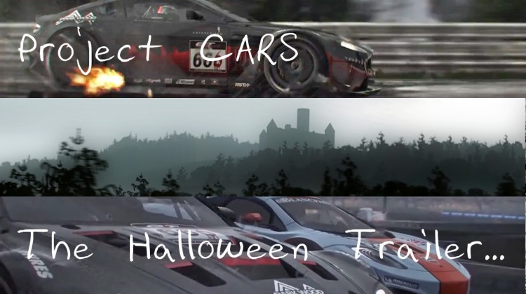 Project CARS Halloween Trailer 3-way split font