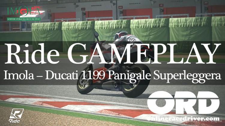 Ride Imola 02 Panigale-01 lean onto start straight vid Ducati 1199 Panigale Superleggera #ridevideogame
