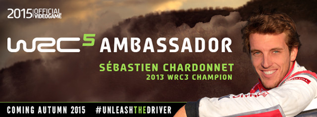 WRC 5 ambassador Sébastien Chardonnet