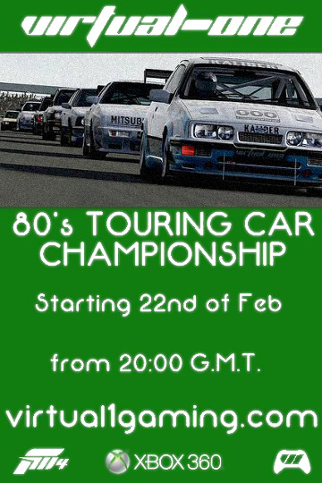 Virtual One virtual1 v1 80s '80s 1980s Touring Car Series Xbox 360 onlineracedriver