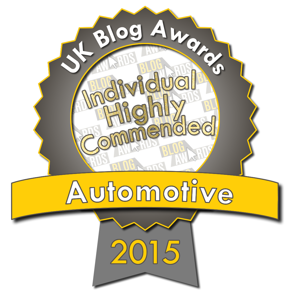 2015 UK Blog Awards Highly Commended - Automotive