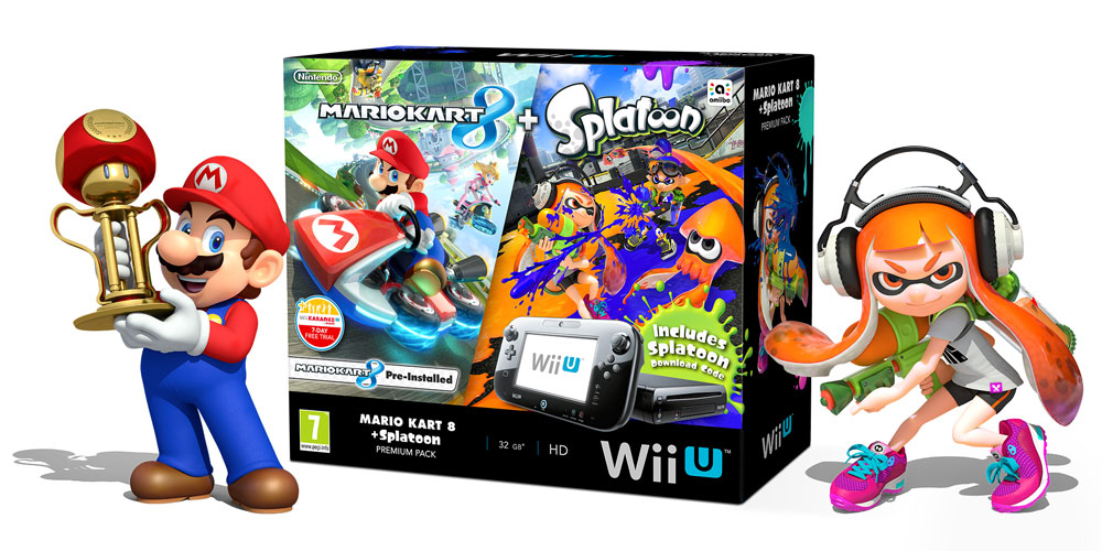new mario kart 8 and splatoon wii u bundle onlineracedriver. Black Bedroom Furniture Sets. Home Design Ideas