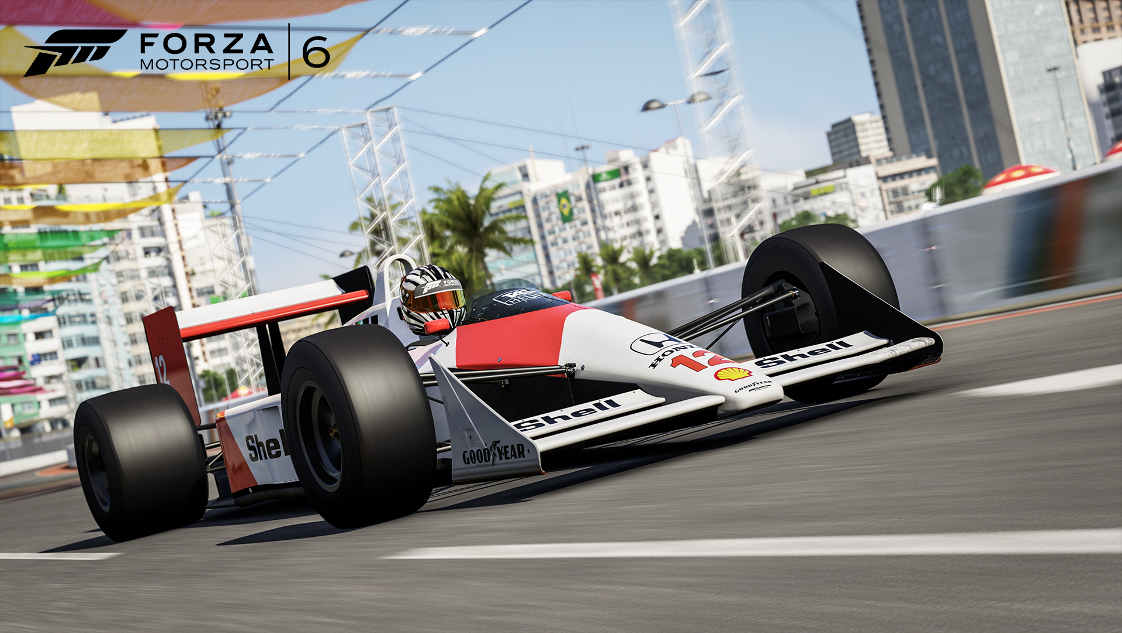 Forza Motorsport 6 McLaren Honda MP4/4 number 12 driven by Ayrton Senna