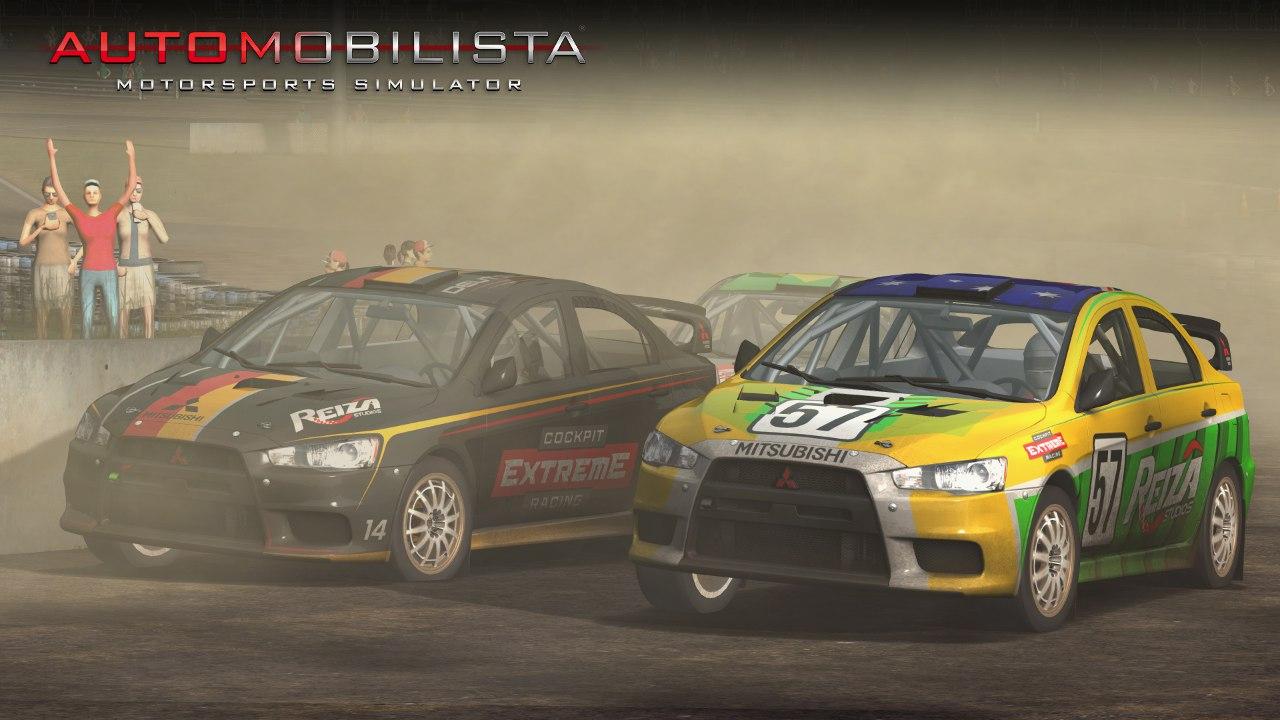 Automobilista Motorsports Simulator AMS – Mitsubishi Evo X – dusty Rally Cross at Tykki