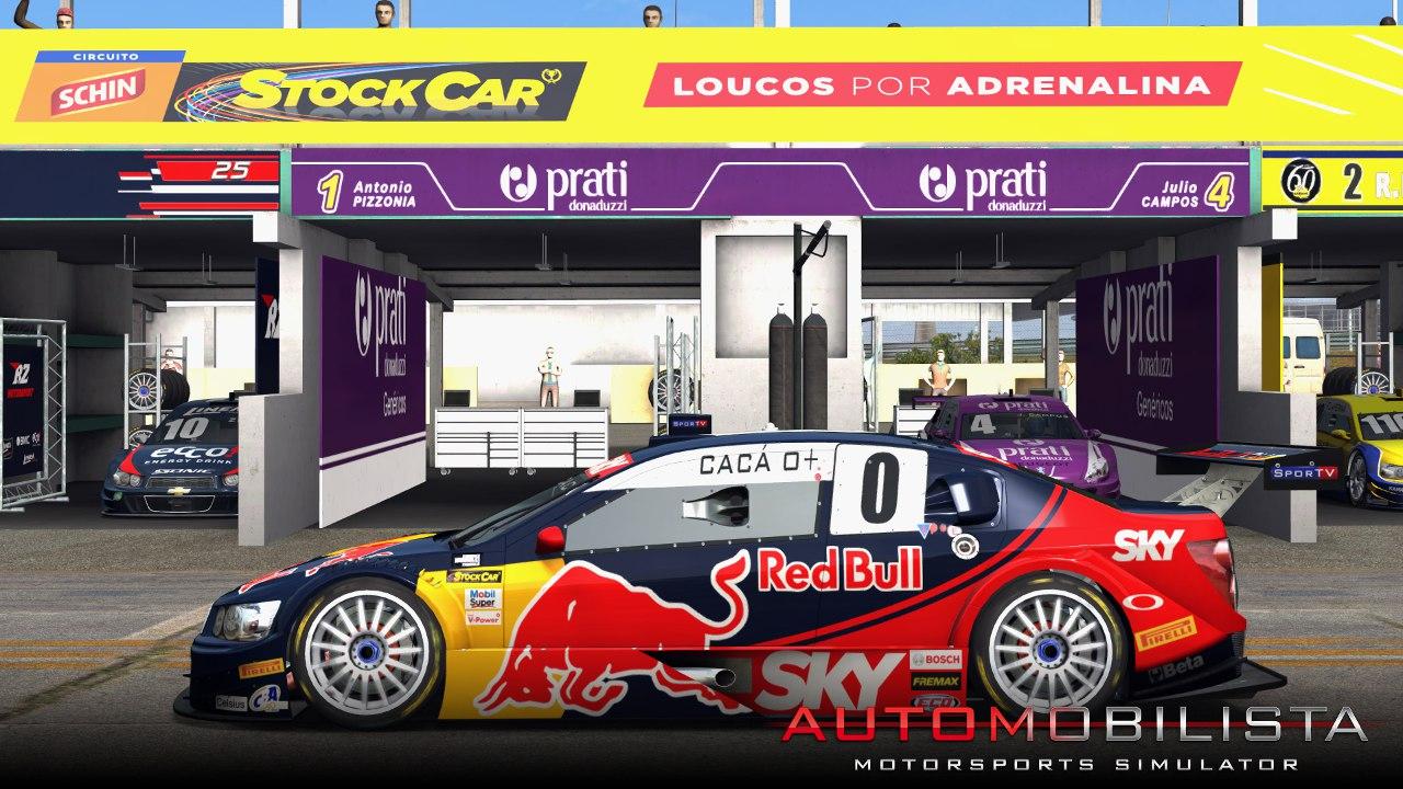 Automobilista Motorsports Simulator AMS – Stock V8 in the pits at Brasilia