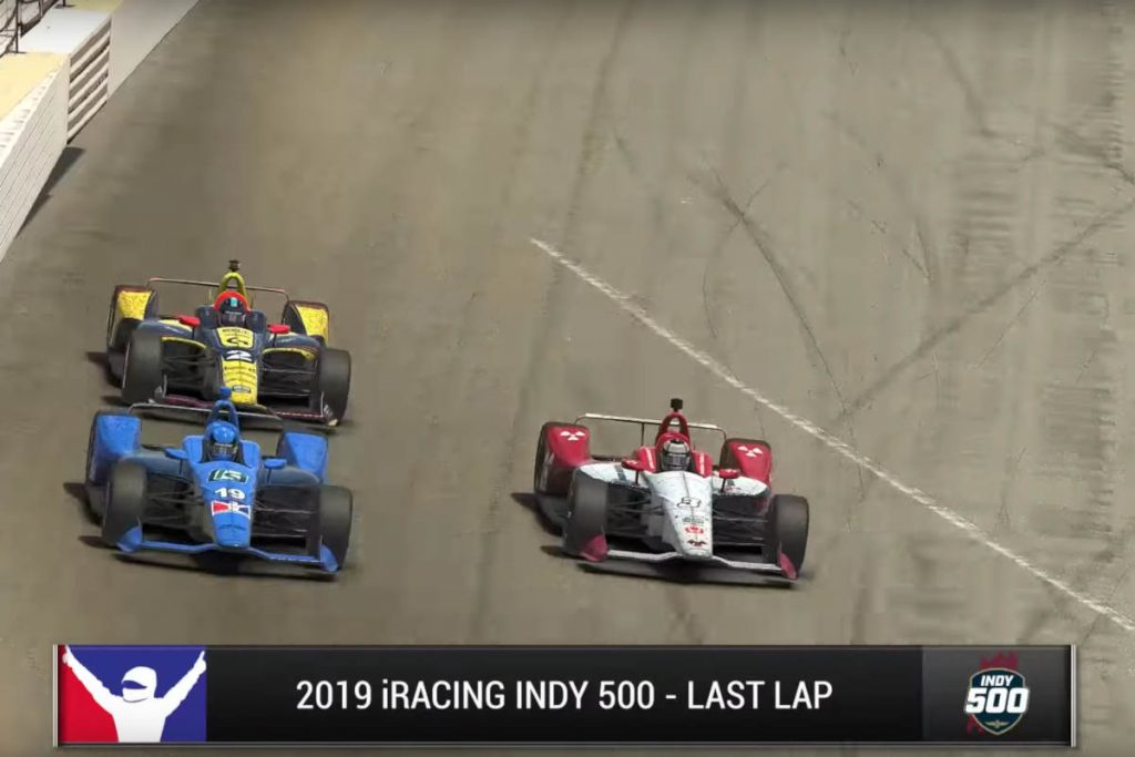 Check out the epic finish for the 2019 iRacing Indy 500