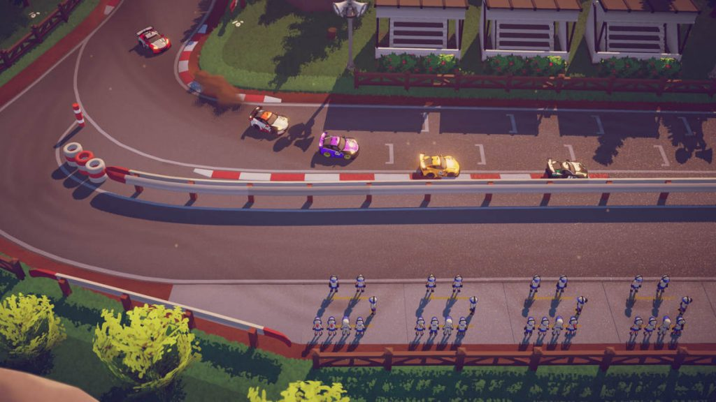 Are those pit crews we see? Could Circuit Superstars involve some strategy as well as arcade racing?