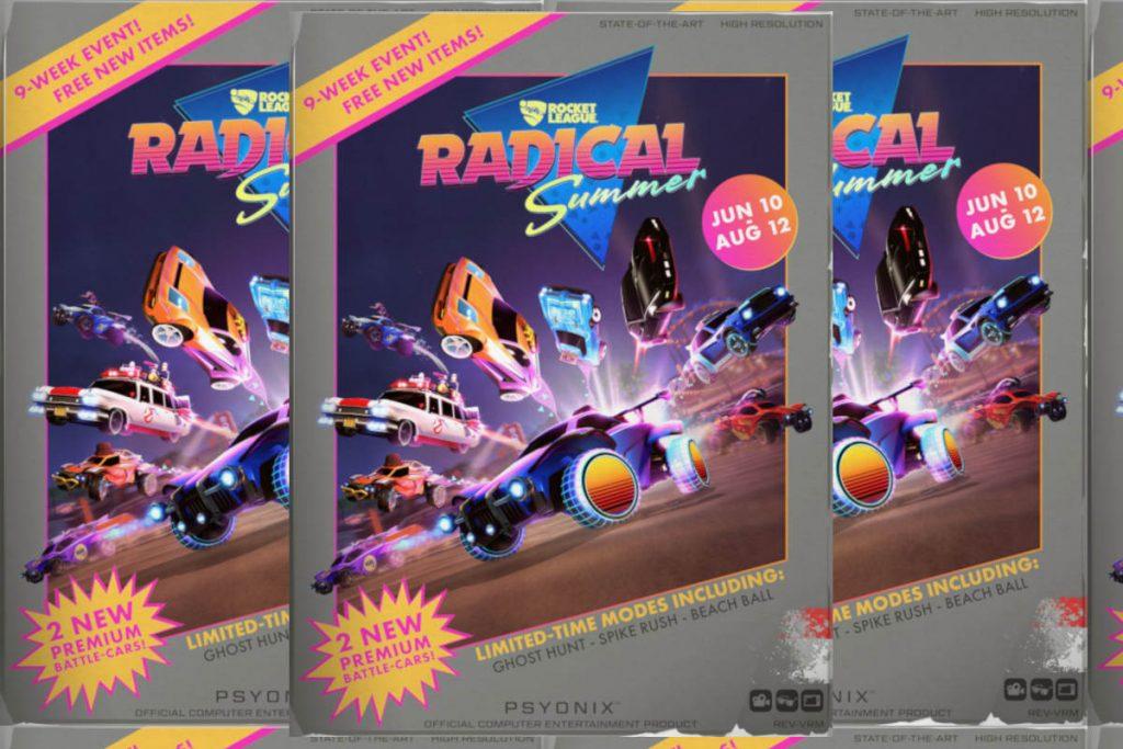 Rocket League Radical Summer 1980s Box Art