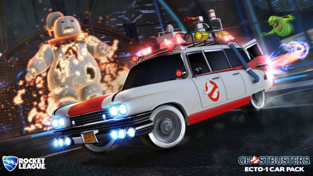 Fancy playing Rocket League in Ecto-1 from Ghostbusters?