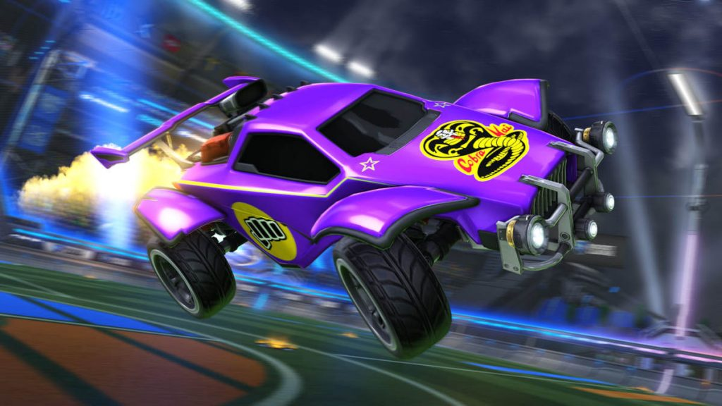 The new Rocket League Radical Summer Cobra Kai Decals look awesome...