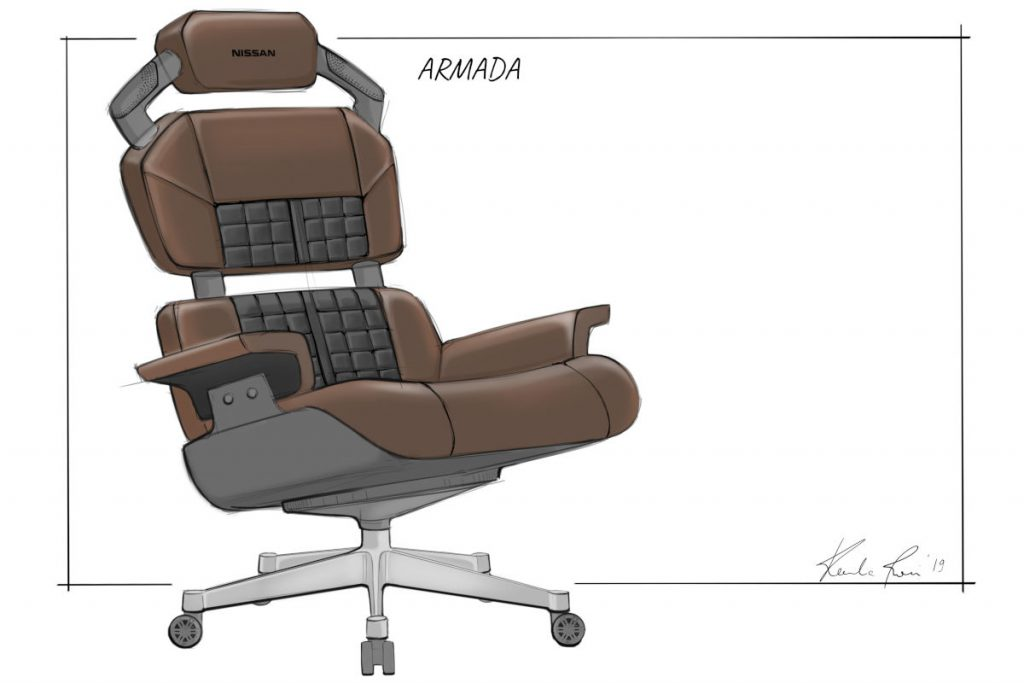 Nissan designs the ultimate eSports racing chairs - the Nissan Armada concept