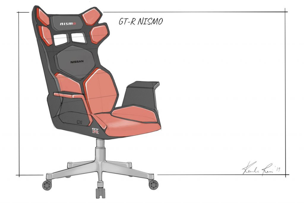 Nissan designs the Ultimate eSports Racing Chairs - the Nissan GT-R NISMO Model