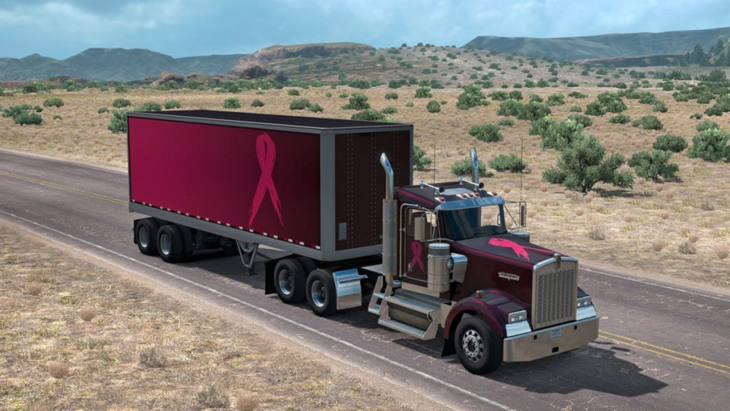 You can also buy the Pink Ribbon Charity Paintschemes in American Truck Simulator