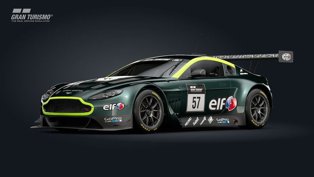 The Gran Turismo Sport Aston Martin V12 Vantage GT3