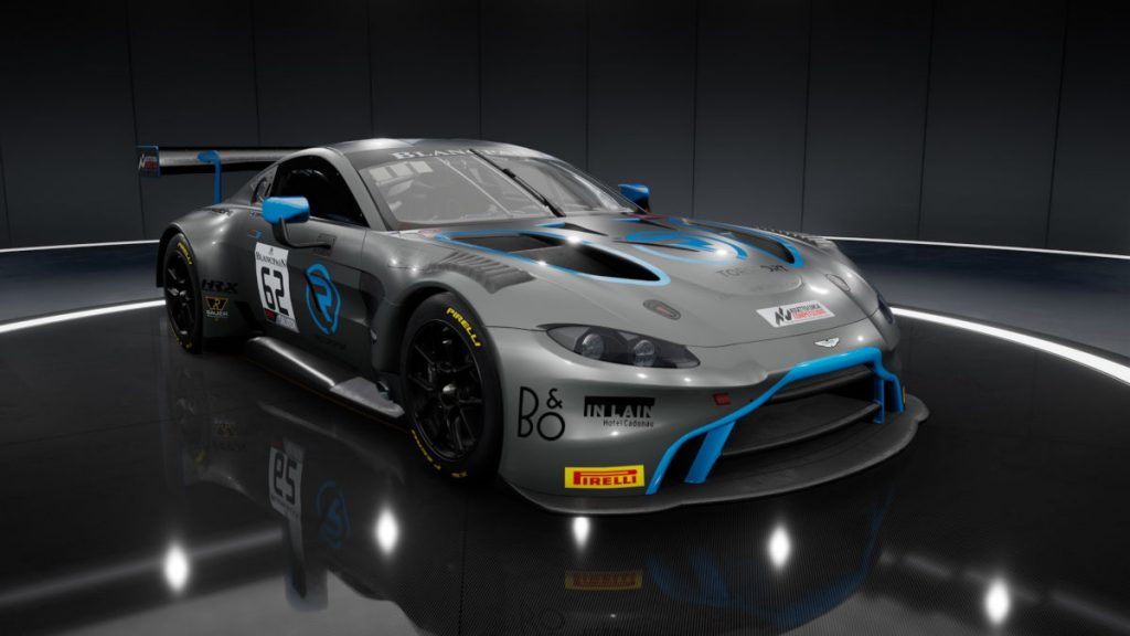 Assetto Corsa Competizione Car List - the Blancpain GT Series 2019 AMR V8 Vantage GT3