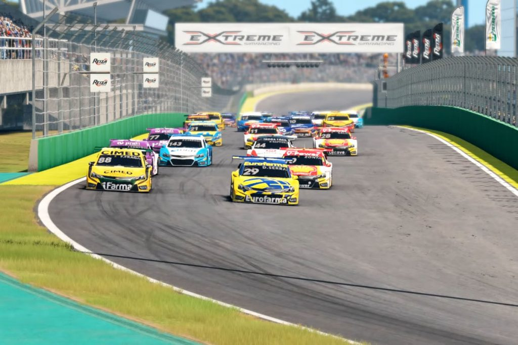 The new Automobilista 2 Brazil Stock Car Trailer takes place at Interlagos