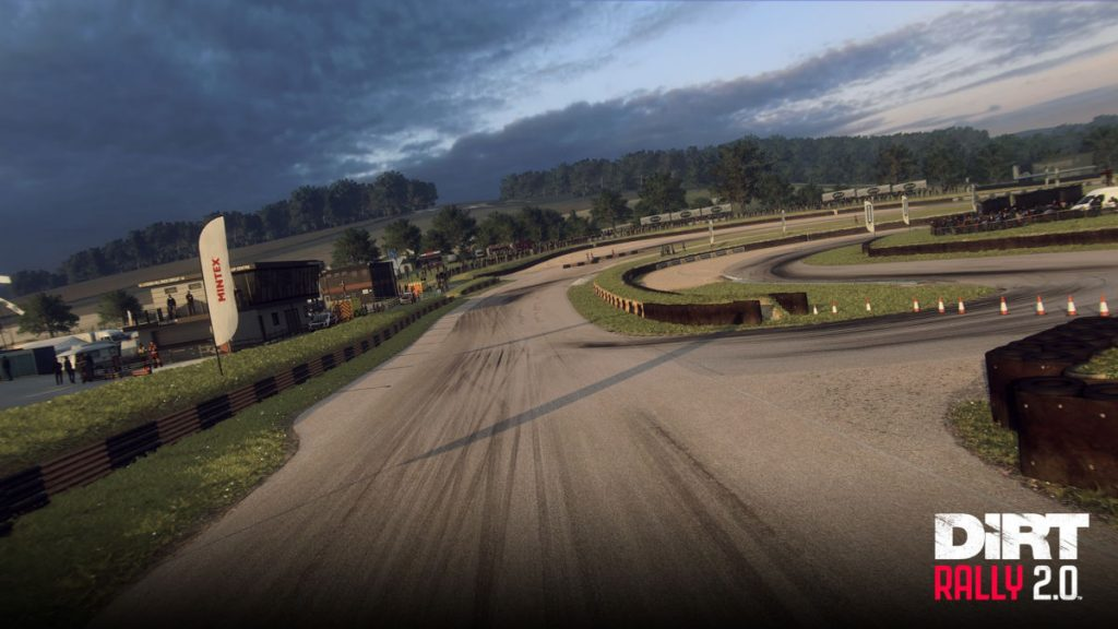 Lydden Hill in Dirt Rally 2.0, looking down Hairy Hill
