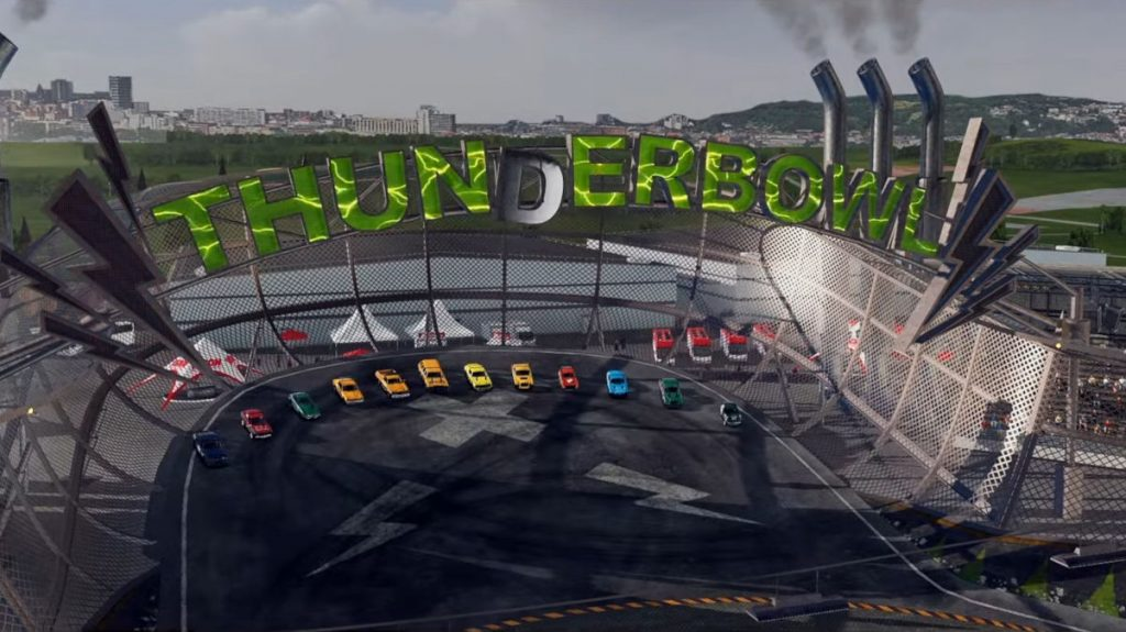 Thunderbowl is the other new venue as the February Wreckfest Update Adds 2 New Tracks