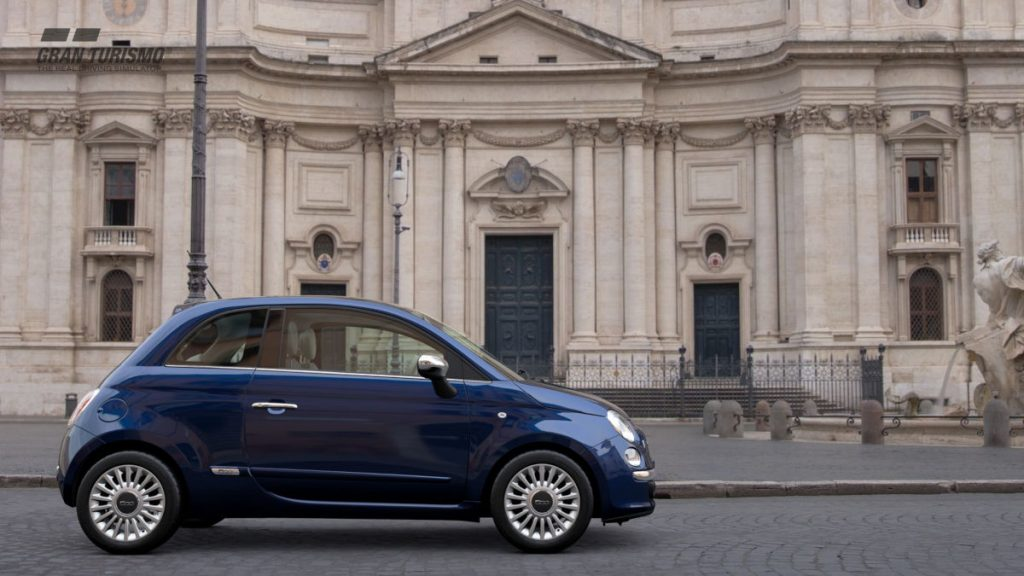 The 2008 Fiat 500 Lounge SS is a cute new addition to GT Sport at least