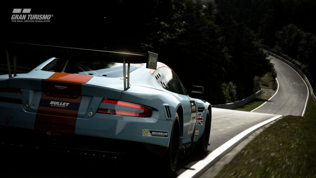 The Aston Martin DBR9 GT1 2010 arrives in GT Sport update 1.56