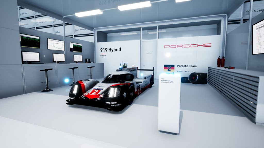 You can examine the Porsche 919 Hybrid as part of the Porsche Hall of Legends