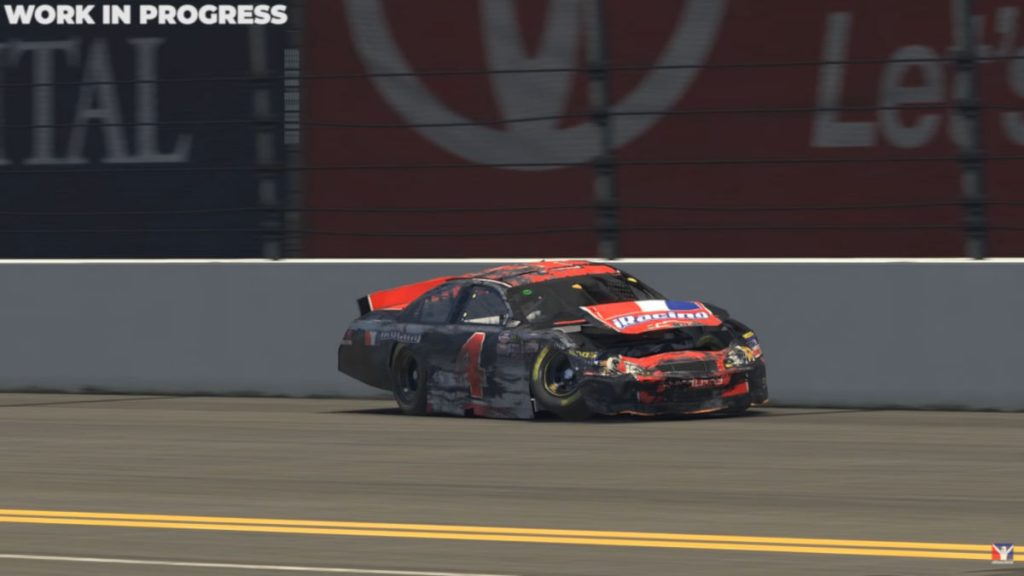 The new NASCAR K&N damage model for iRacing