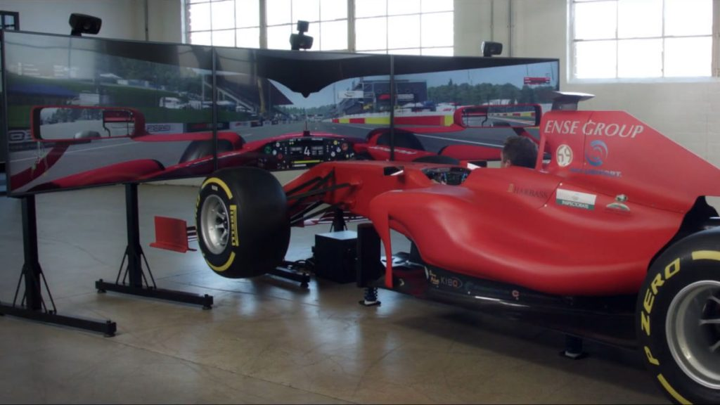 The full motion F1 simulator built by CXC Simulations