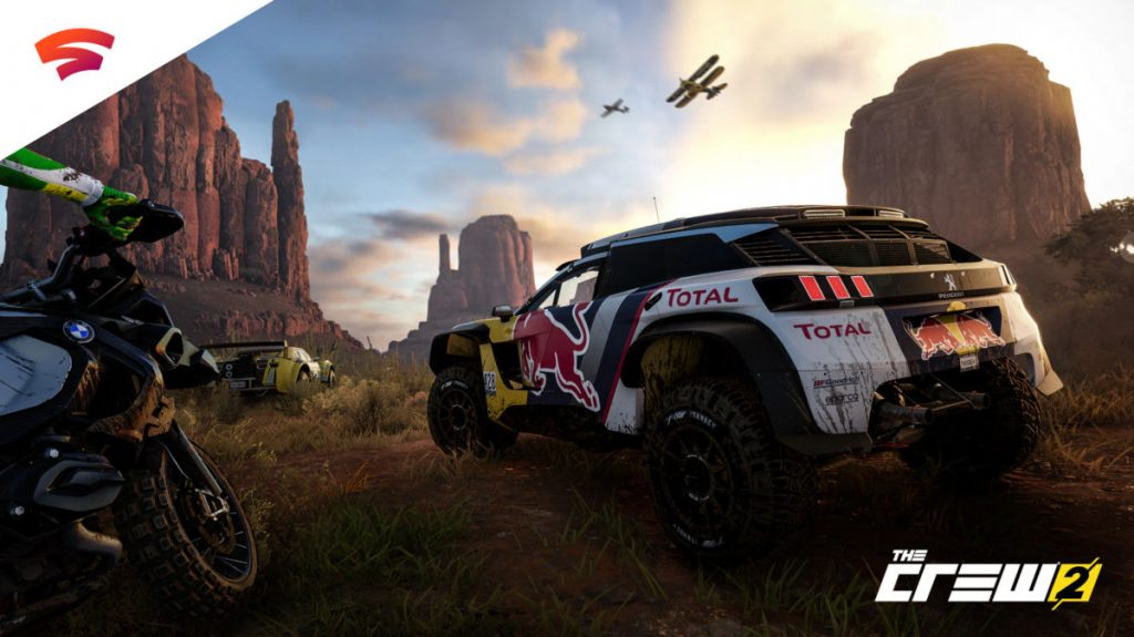 The Crew 2 is one of relatively few driving games available on the Stadia so far