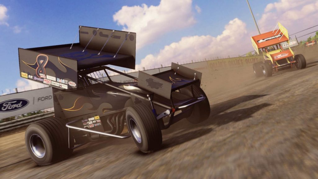 The Stealth paint scheme in the new Road Course DLC for Tony Stewart's Sprint Car Racing