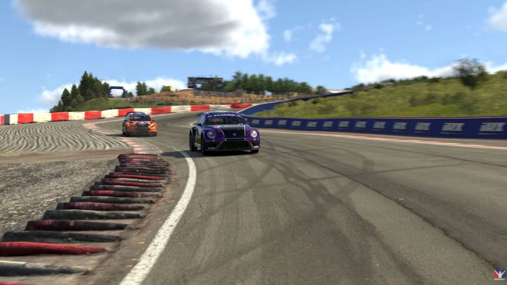 The iRacing 2020 Season 2 Build includes the Lankebanen (Hell) rallycross circuit