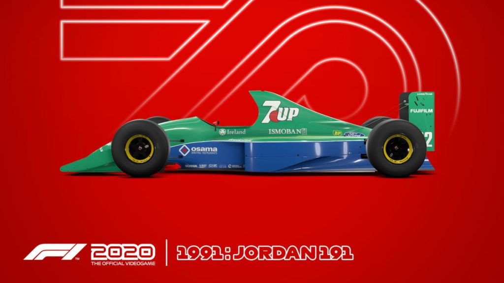 The F1 2020 Deluxe Schumacher Edition exclusive 1991 Jordan 191