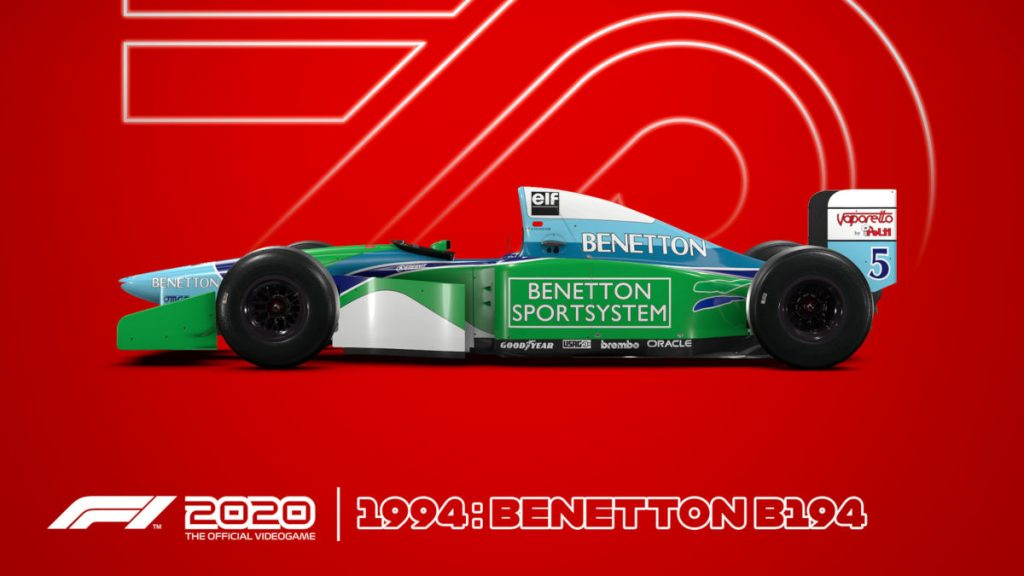The F1 2020 Deluxe Schumacher Edition exclusive 1994 Benetton B194
